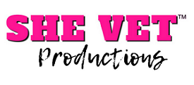 SHE VET Media Productions Logo