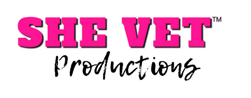 SHE VET, iNC. Media Productions Logo